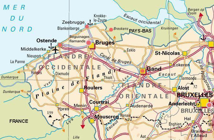 Moments forts : Gand, Bruges et la mer du Nord à Ostende.