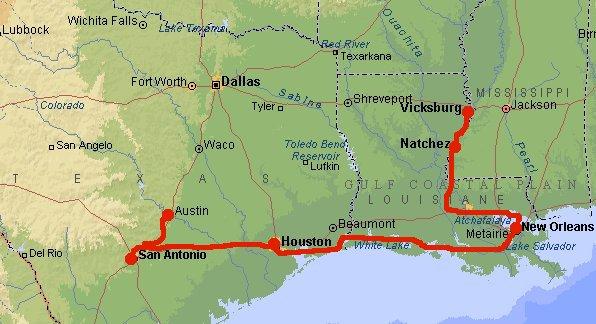 Location de voiture pendant 3 semaines. ( 4900 kms en sept/oct 2000 )