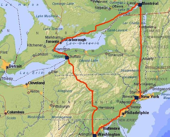 ITINÉRAIRE : New York, Boston, Montréal (Canada), Chutes du Niagara ...